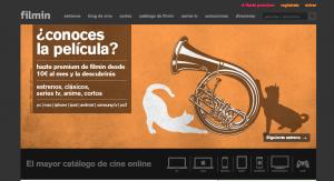 Web Filmin: alquiler de películas online