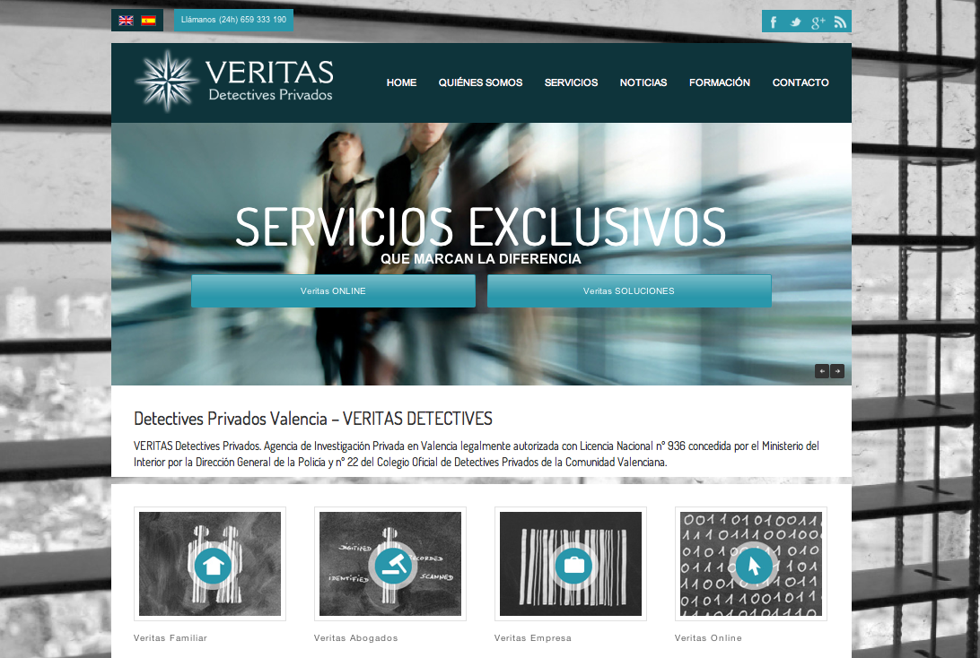 Web de detectives privados