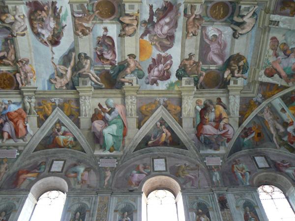 Bóveda con pinturas de Miguel Ángel