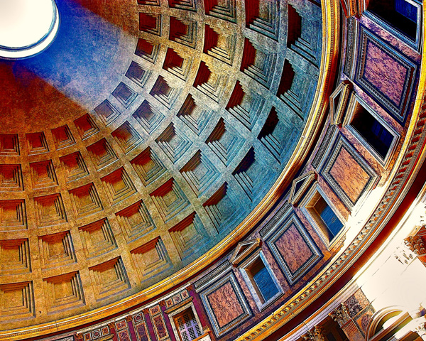 Luz entrando por la ventana de la cúpula