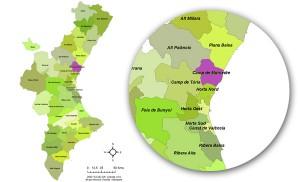 Localización de los campos de Naranjas Monzo