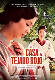 Cartel en español de La Casa del Tejado Rojo con las 2 protagonistas