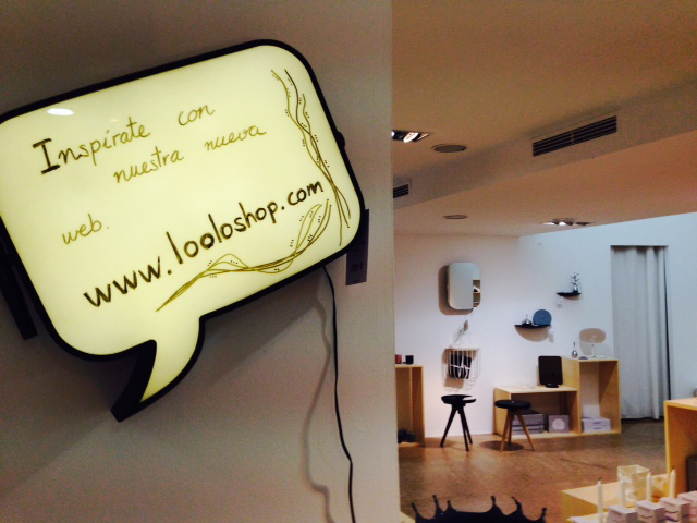 cartel de la tienda online loolo