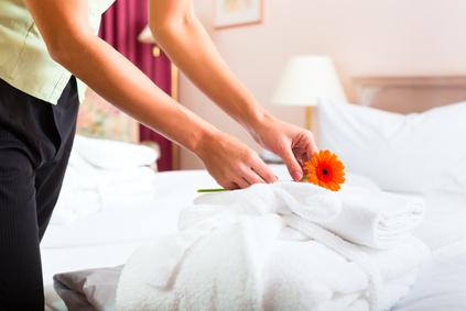 habitación preparada tras la limpieza de hoteles